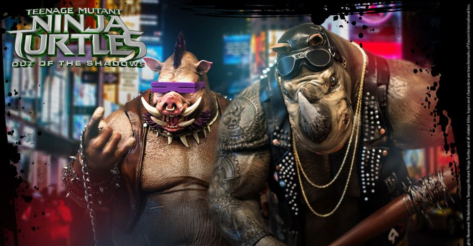 Vault TMNT2 Rocksteady and Bebop Statues 1