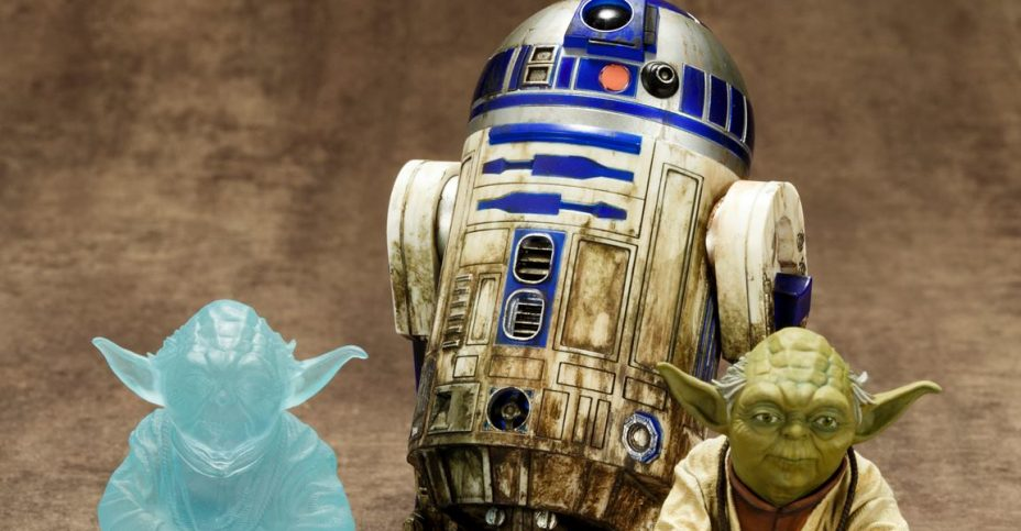 Yoda and R2 D2 Statue Set 001