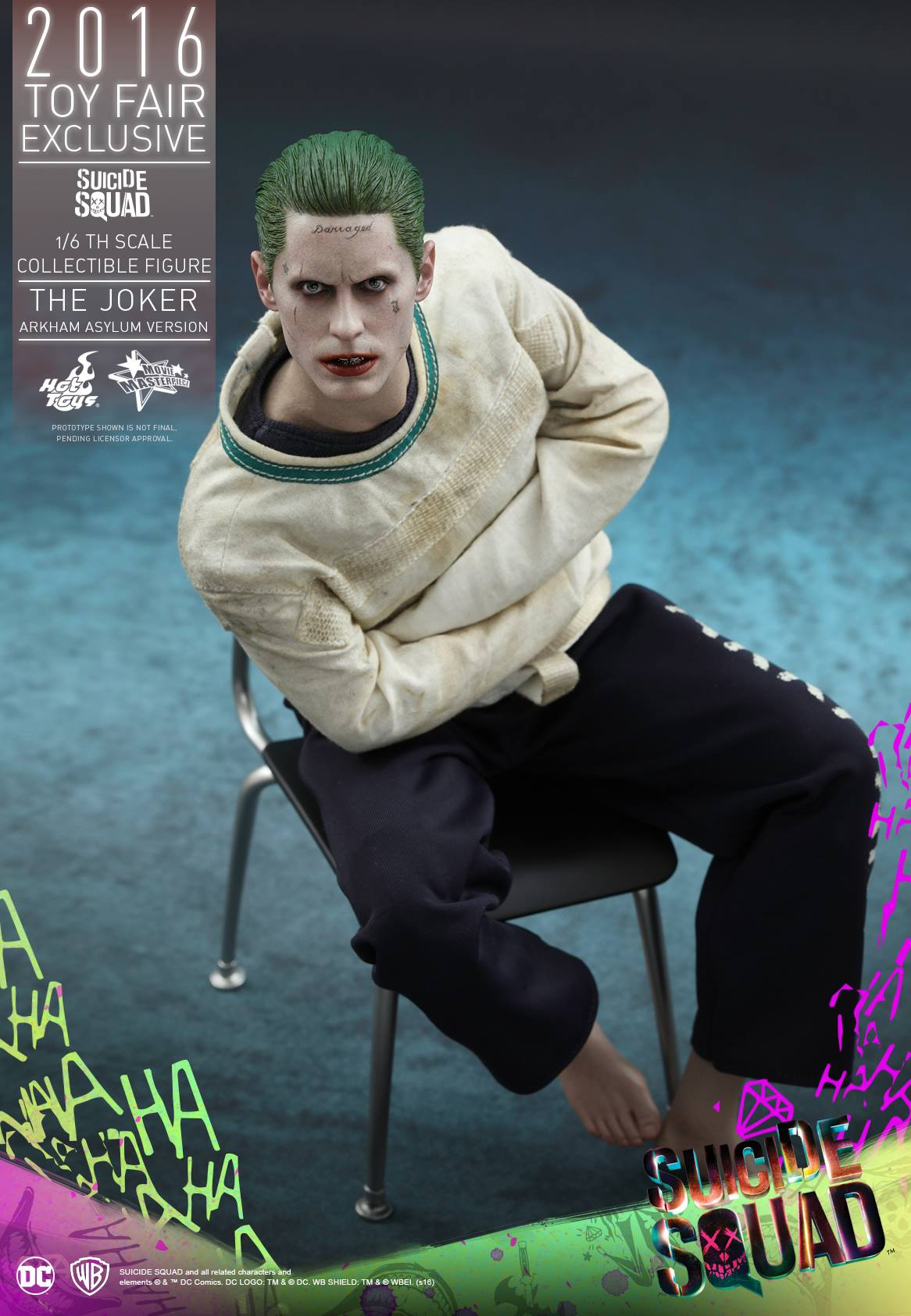 2016 con exclusive suicide squad the joker 1 6 scale figure by hot toys the toyark news. Black Bedroom Furniture Sets. Home Design Ideas