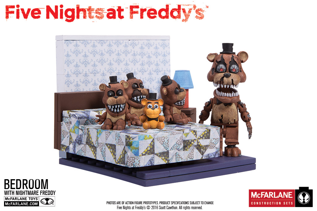 Mcfarlane 5 inch walking dead statues 5 nights at freddy s and more