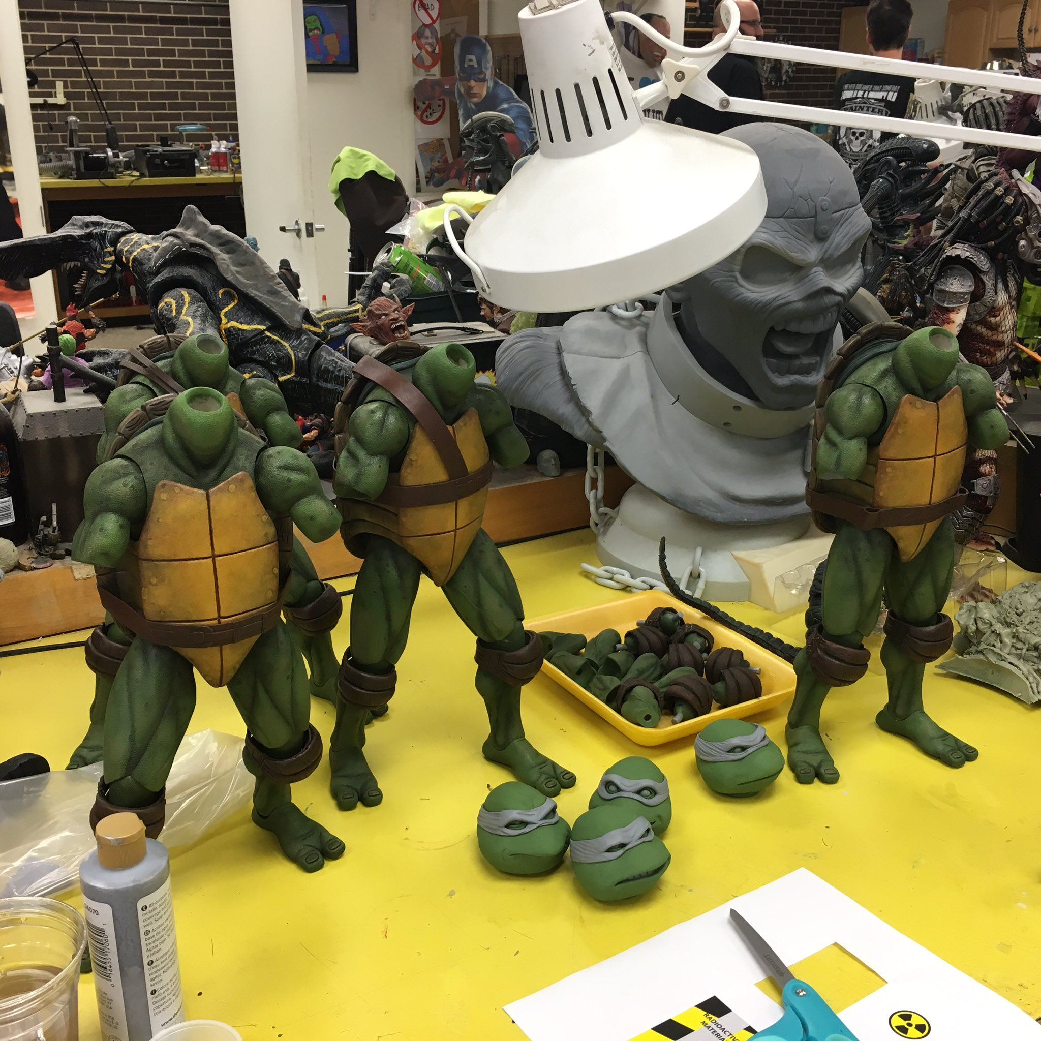 Neca posts easter egg filled preview of tmnt 1 4 scale figures the