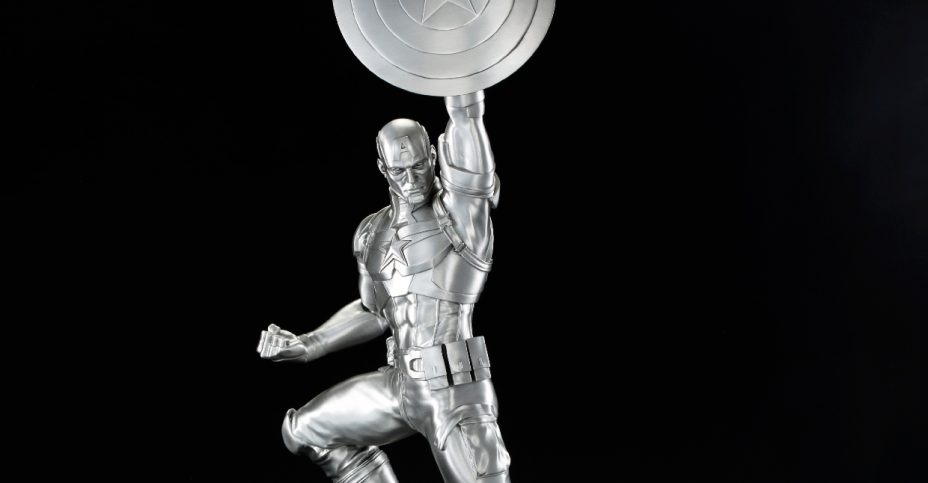 Captain America Tribute Statue Pewter Replica 1