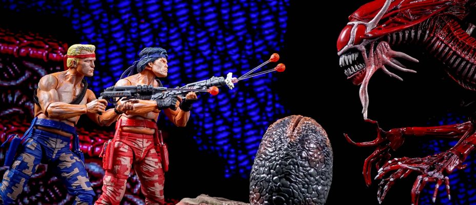 NES Contra Video Game Appearance 2-Pack by NECA - Toyark Photo Shoot