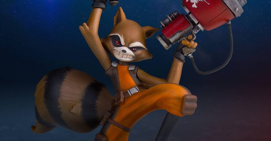 SDCC2016 GG Rocket Raccoon Statue