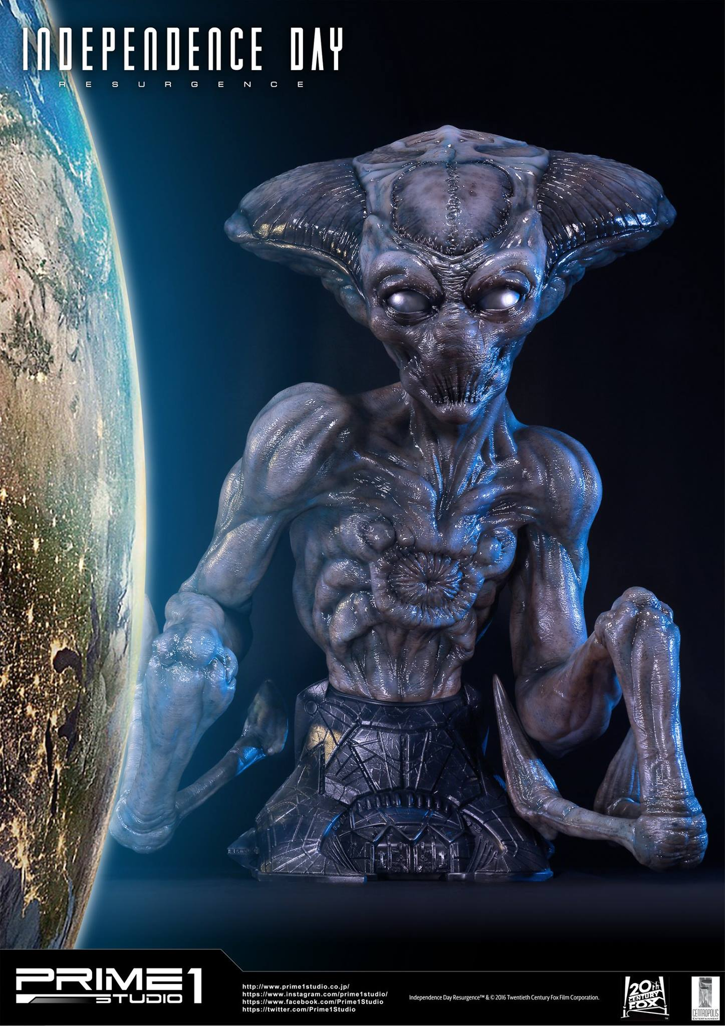 Independence Day: Resurgence Alien Life Size Bust by Prime 1 Studio
