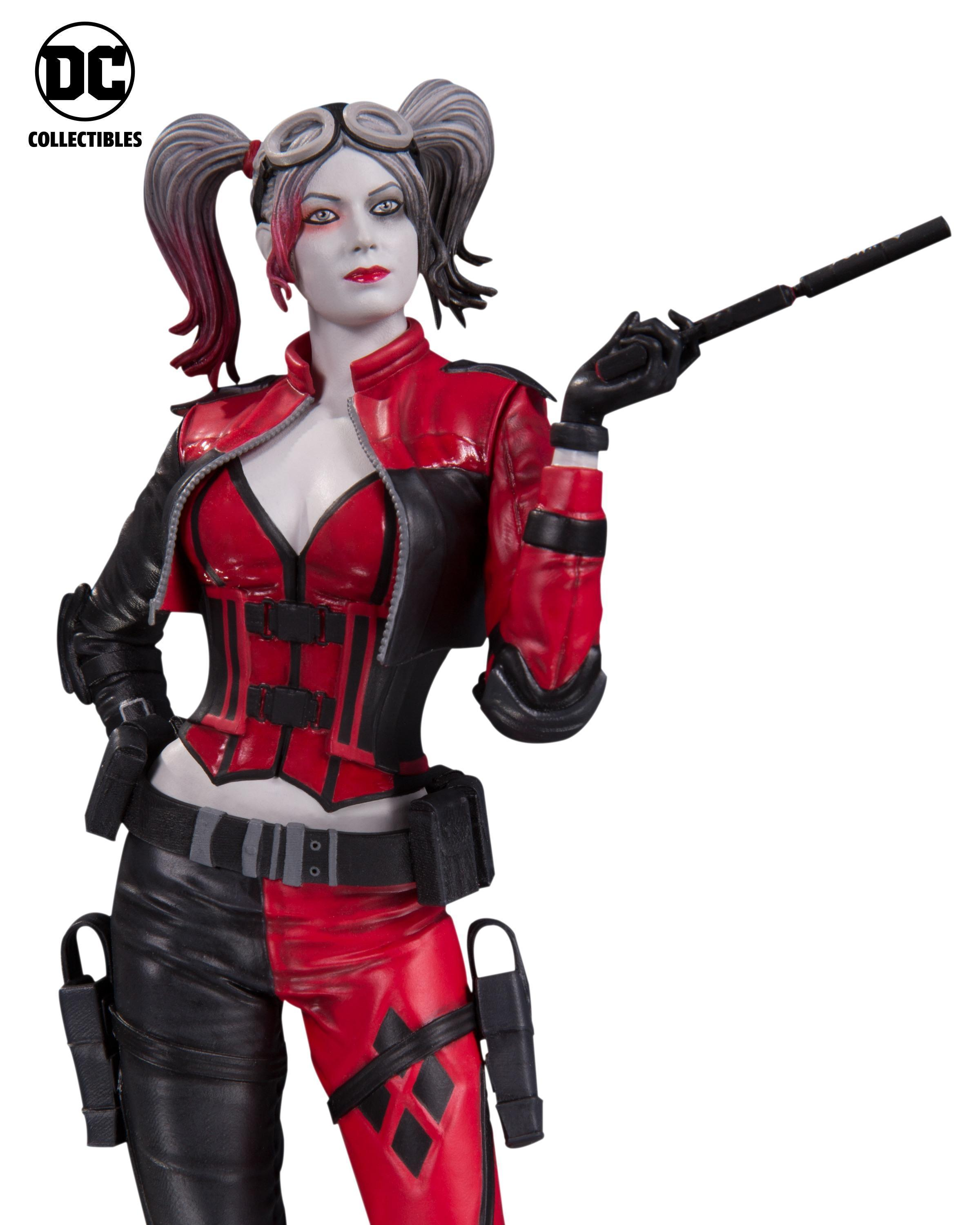 dc collectibles injustice 2 harley quin red white and black statue the toyark news. Black Bedroom Furniture Sets. Home Design Ideas