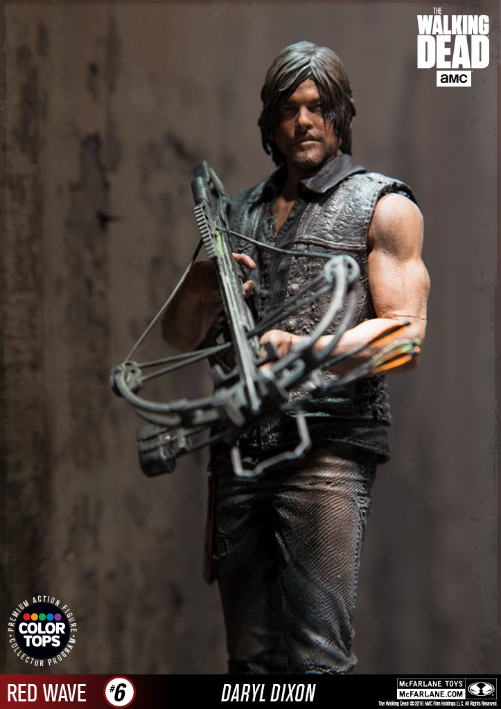 mcfarlane the walking dead daryl dixon color tops collection the toyark news. Black Bedroom Furniture Sets. Home Design Ideas