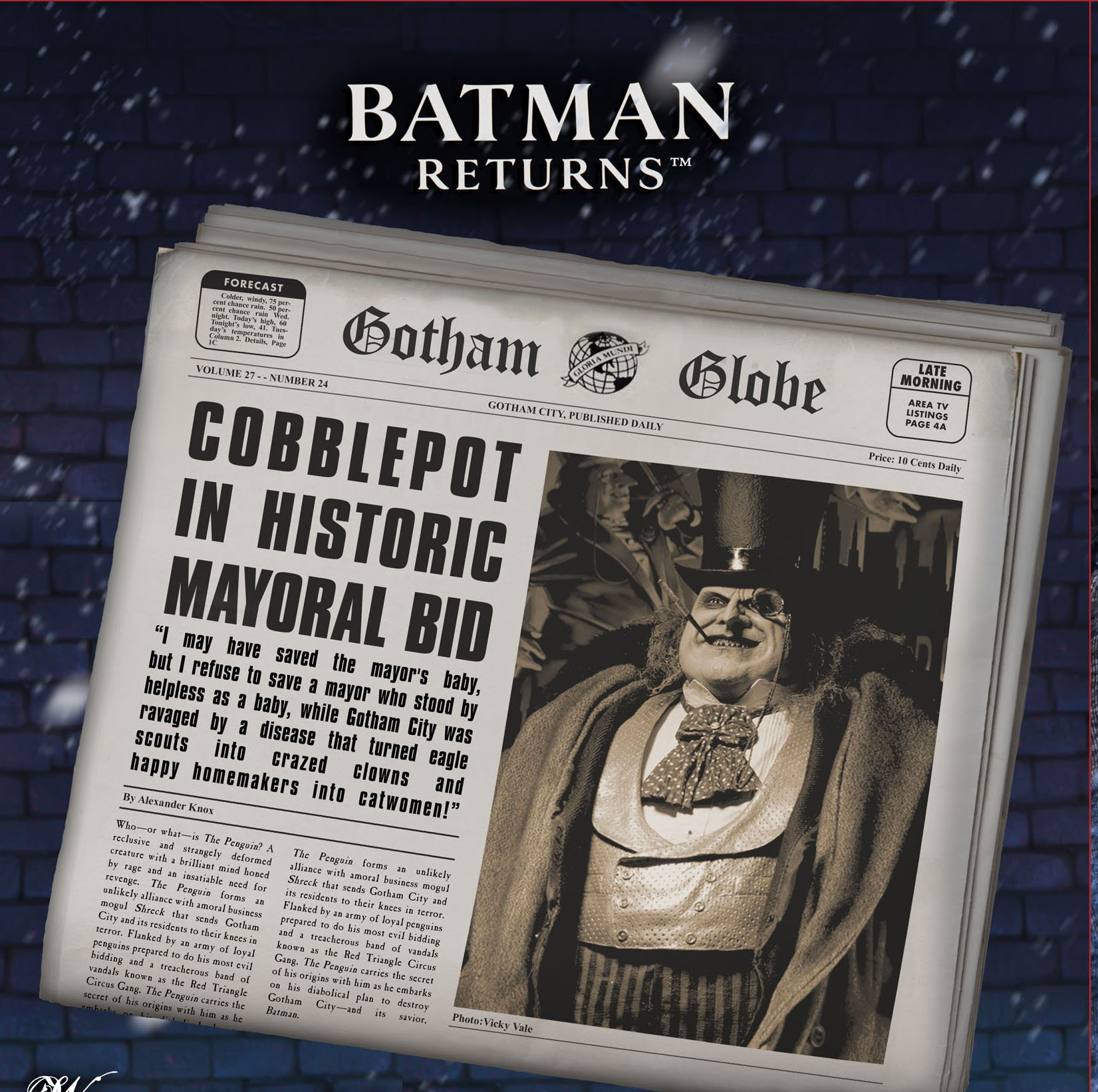 Preview Of Batman Returns 1 4 Scale Mayoral Penguin