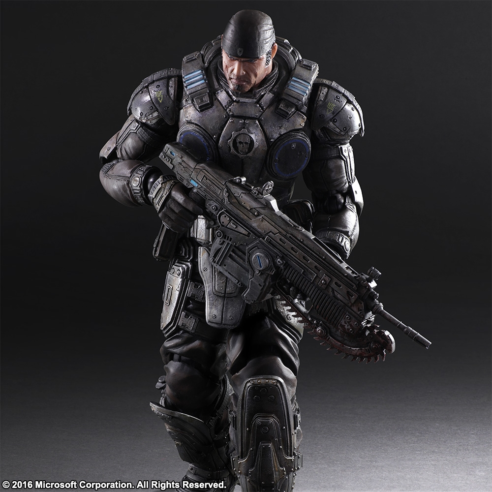Play Arts Kai Gears Of War Marcus Fenix Figure