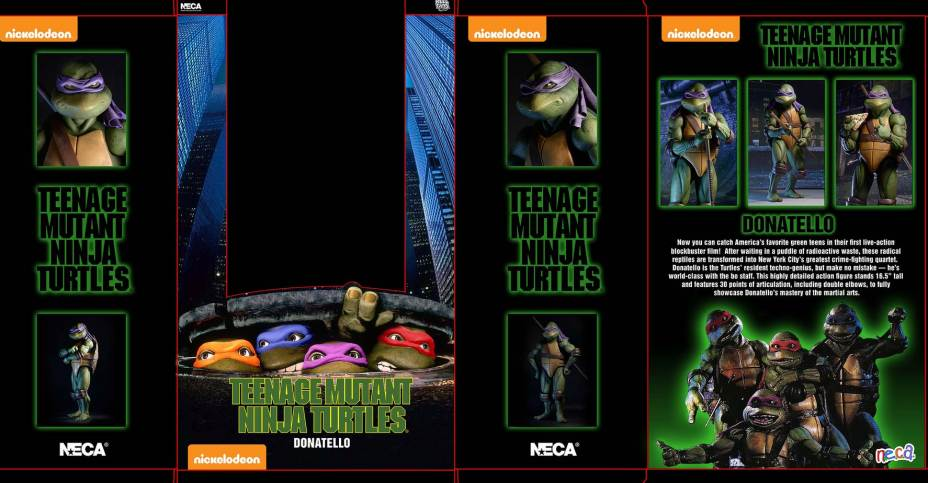 TMNT 1990 Donatello NECA Box