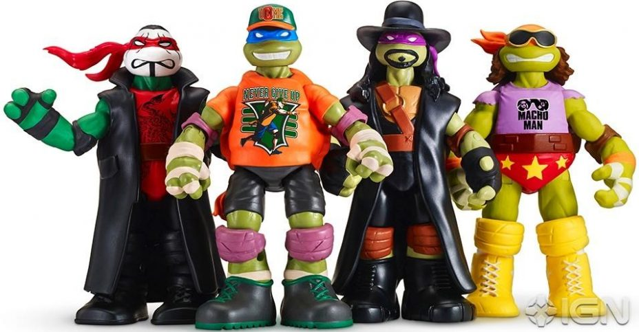 Teenage Mutant Ninja Turtles Toys 1 : Nycc teenage mutant ninja turtles wwe figures the