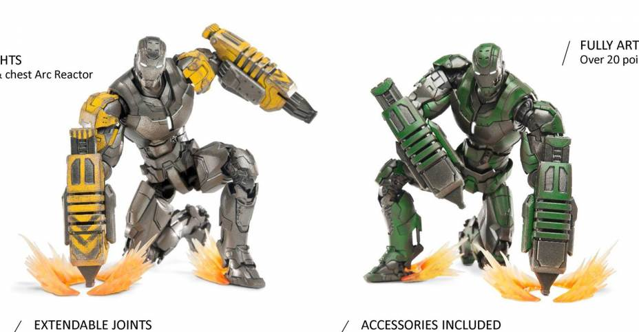 Comicave 6 Inch Scale Iron Man Striker and Gamma 002