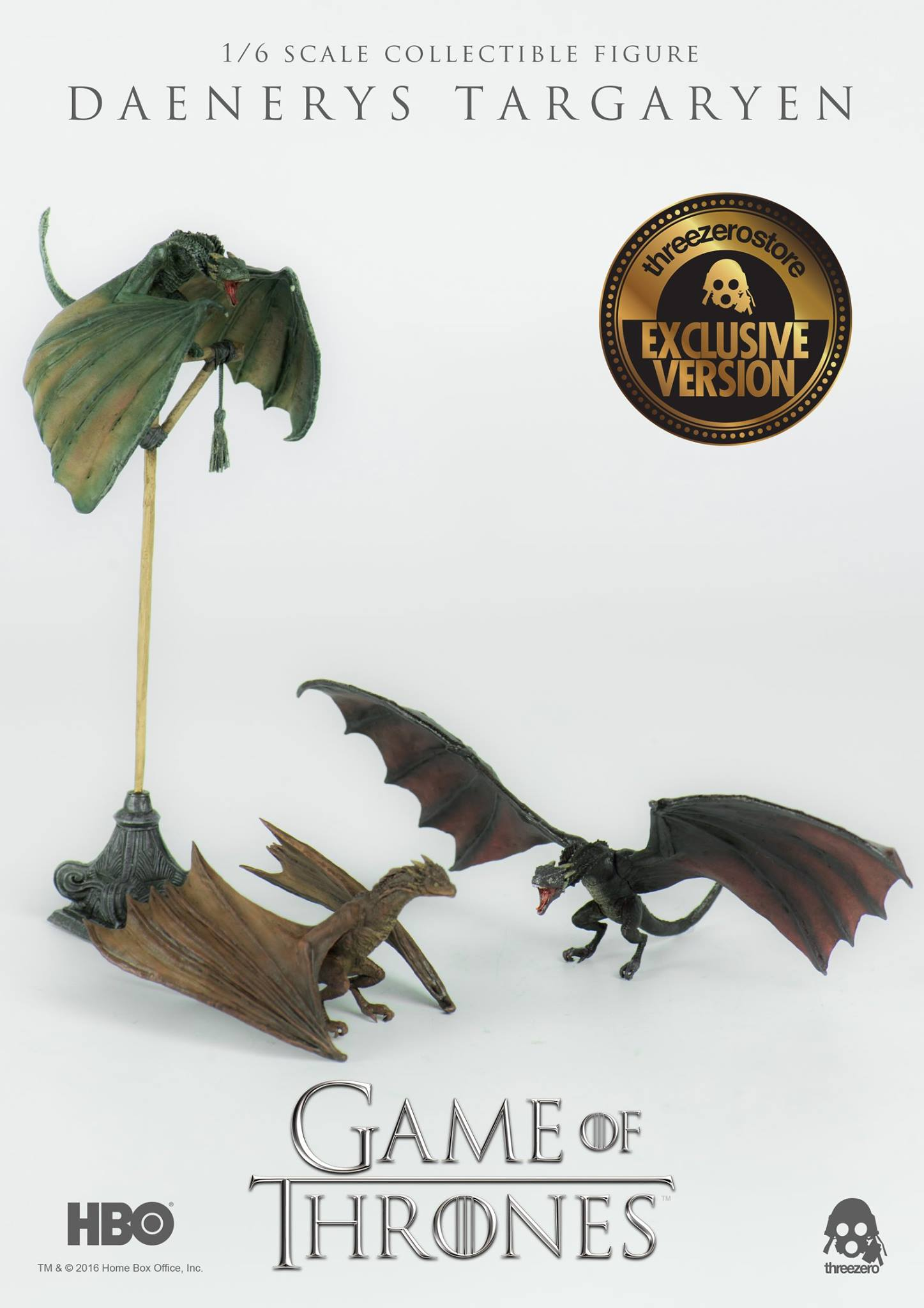 Game Of Thrones Toys : Threezero game of thrones daenerys targaryen scale