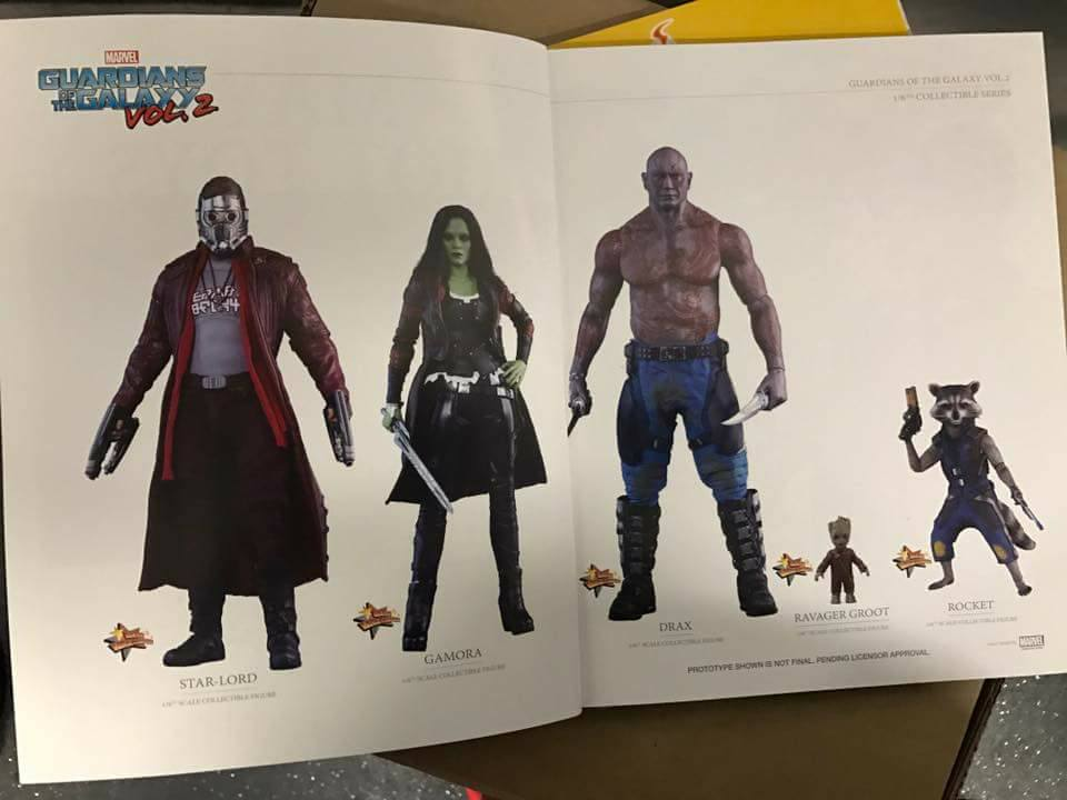 Teasers for Upcoming Guardians of the Galaxy and Star Wars by Hot Toys
