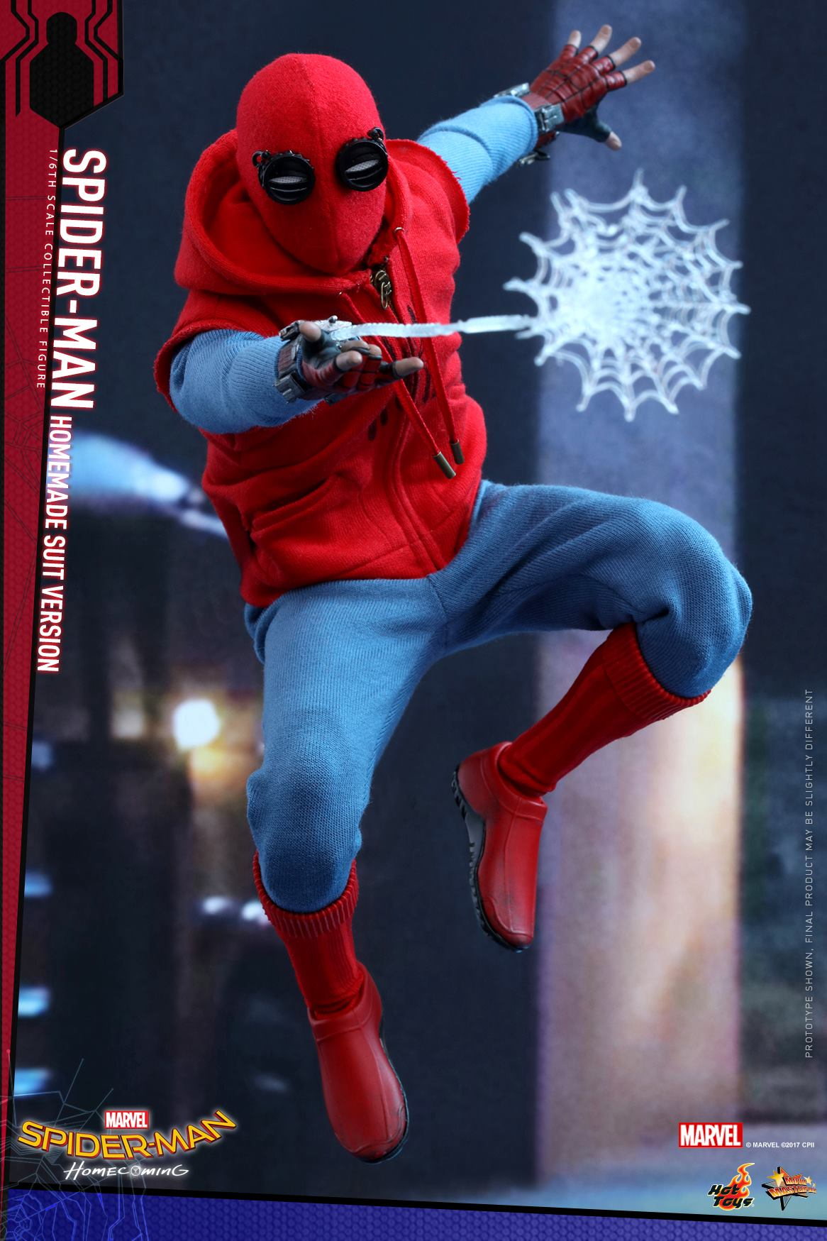 Spider-Man: Homecoming - Homemade Spider-Man Suit Figure by Hot Toys on homemade ghost shirts, homemade ironman shirts, homemade crayola shirts, homemade halloween shirts, homemade soccer shirts, homemade pacman shirts, homemade jurassic park shirts, homemade peter pan shirts, homemade wwe shirts, homemade cat shirts, homemade birthday shirts, homemade hannah montana shirts, homemade sports shirts, homemade football shirts, homemade pi shirts, homemade thomas shirts, homemade tinkerbell shirts, homemade superhero shirts, homemade dinosaur shirts, homemade superman costume for a girl,