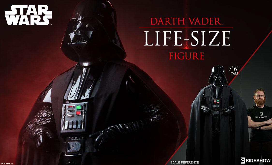 Star Wars Life Size Darth Vader Coming From Sideshow The