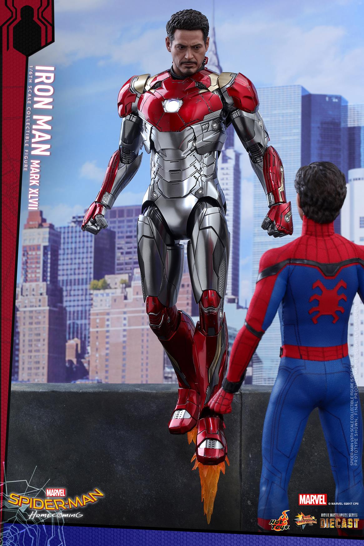 spider man homecoming iron man mark xlvii 1 6 scale figure by hot toys the toyark news. Black Bedroom Furniture Sets. Home Design Ideas