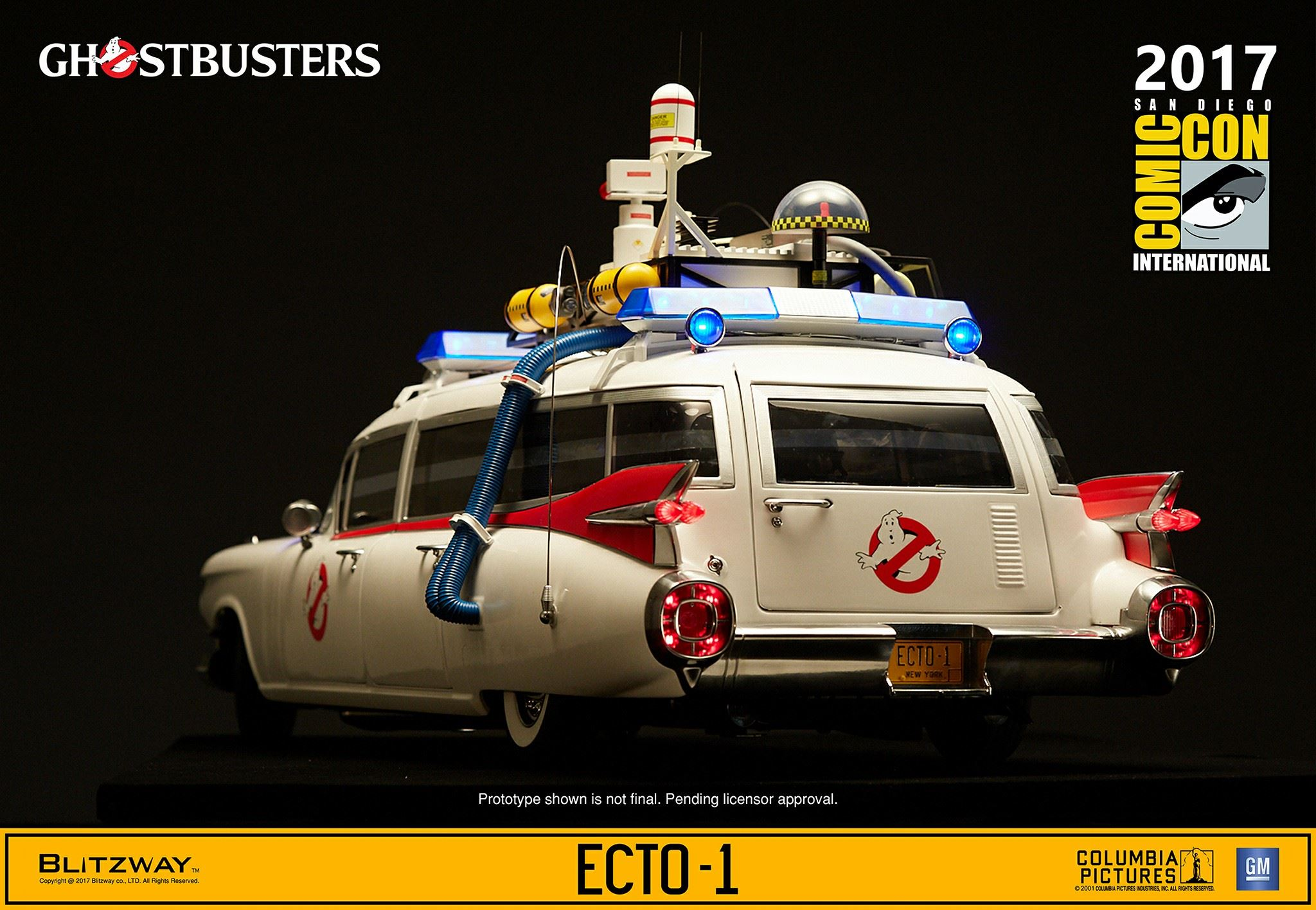 new photos of ghostbusters 1 6 scale ecto 1 by blitzway. Black Bedroom Furniture Sets. Home Design Ideas