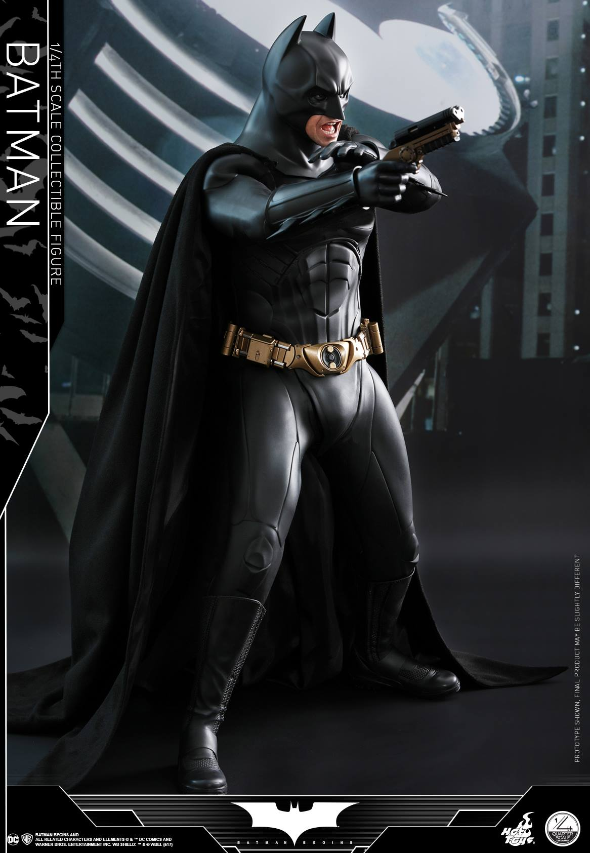 hot toys dark knight trilogy 1 4 scale figures batman. Black Bedroom Furniture Sets. Home Design Ideas