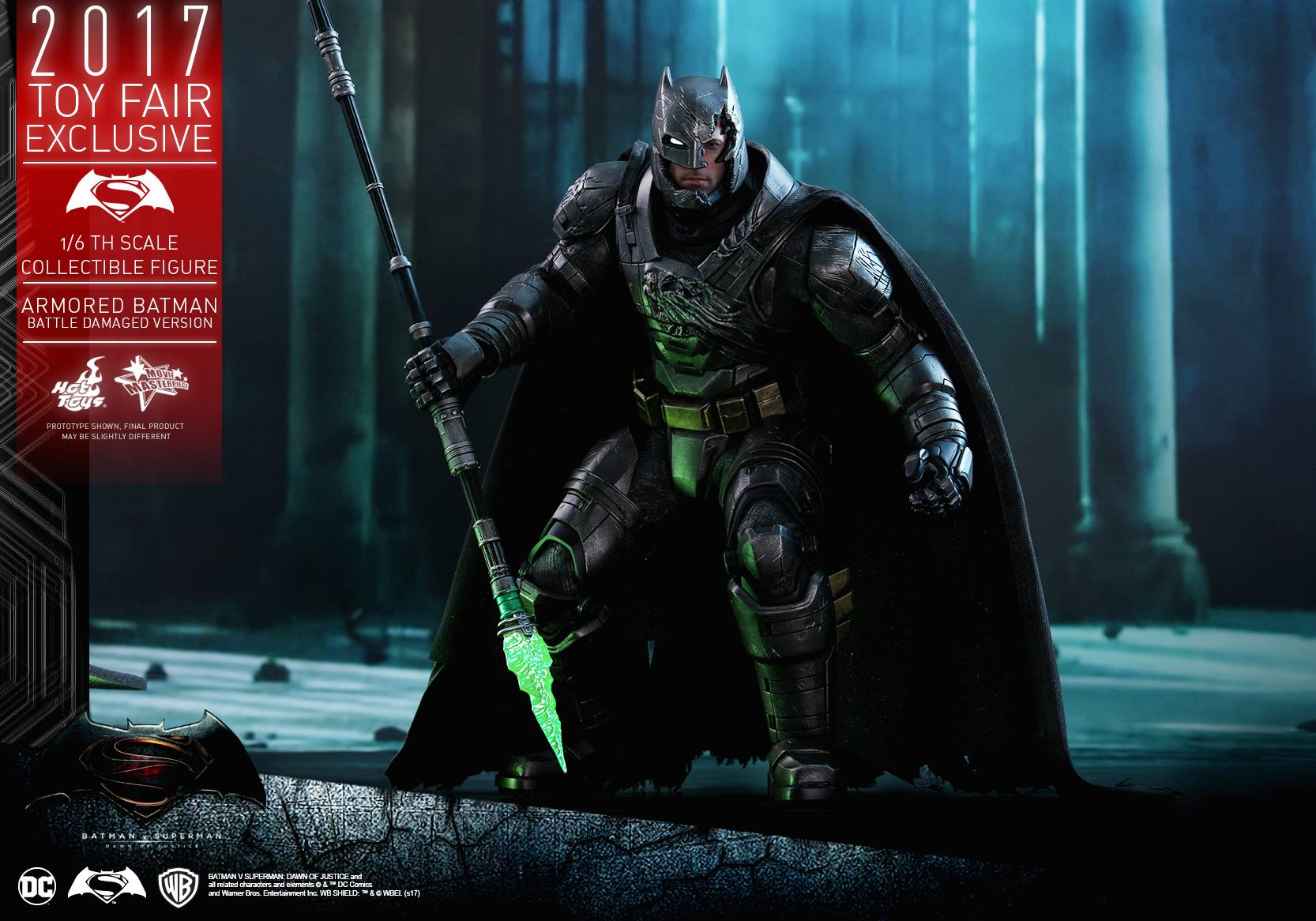 hot toys batman v superman battle damaged armored batman. Black Bedroom Furniture Sets. Home Design Ideas