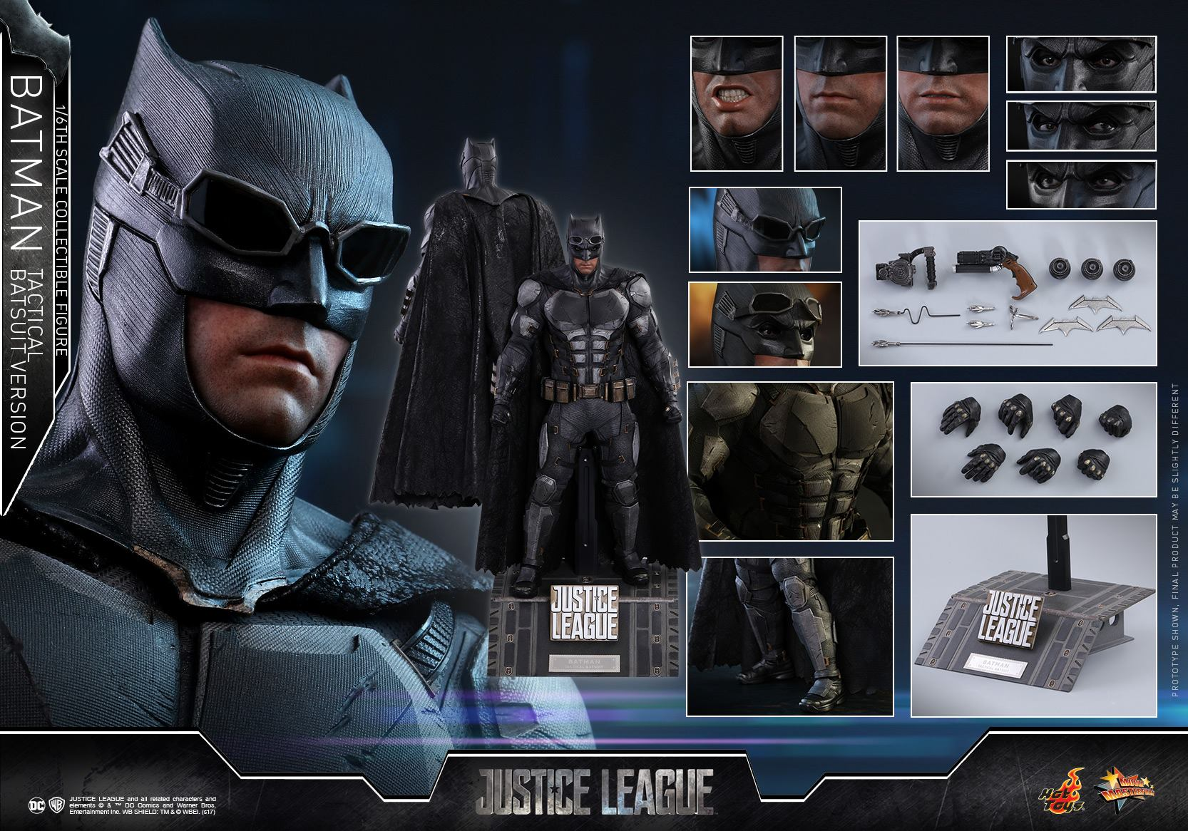hot toys justice league batman tactical suit 1 6 scale. Black Bedroom Furniture Sets. Home Design Ideas