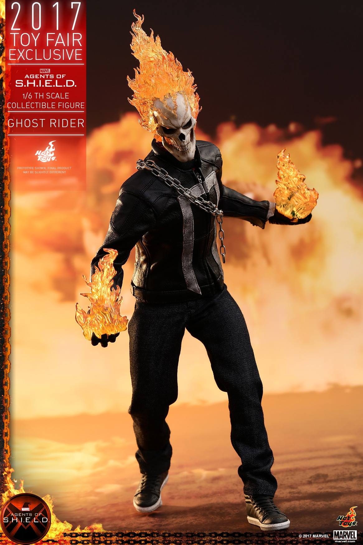 Agents Of S H I E L D Ghost Rider 1 6 Scale Figure By