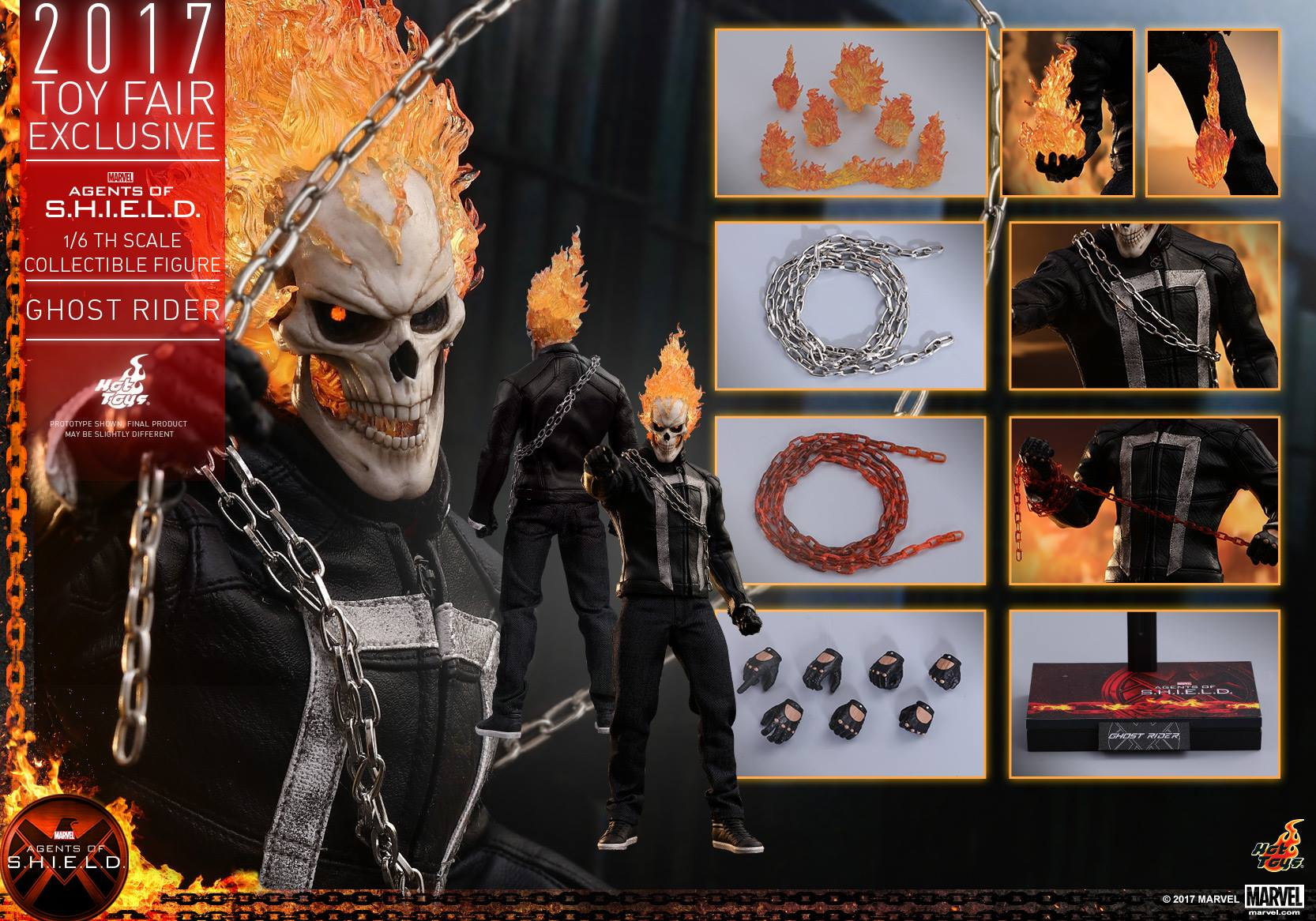 Agents of S.H.I.E.L.D. - Ghost Rider 1/6 Scale Figure by Hot Toys ...
