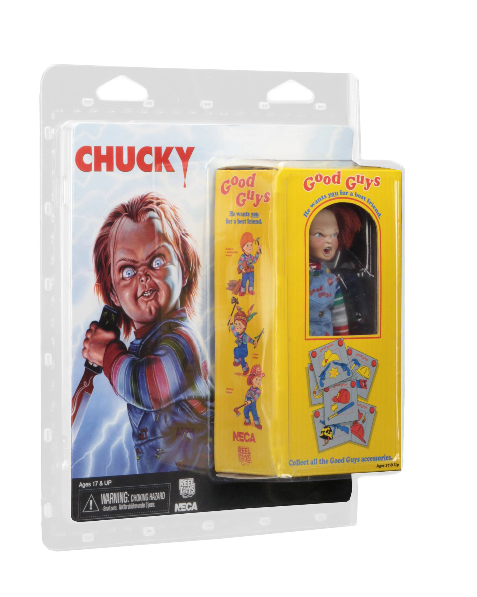 Neca Retro Style Child S Play Chucky Figure In Packaging