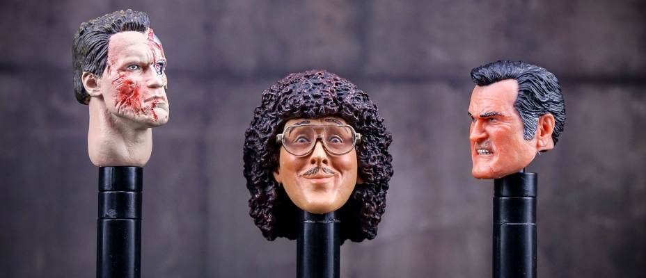 NECA Action Figure Head Stands - Toyark Photo Shoot