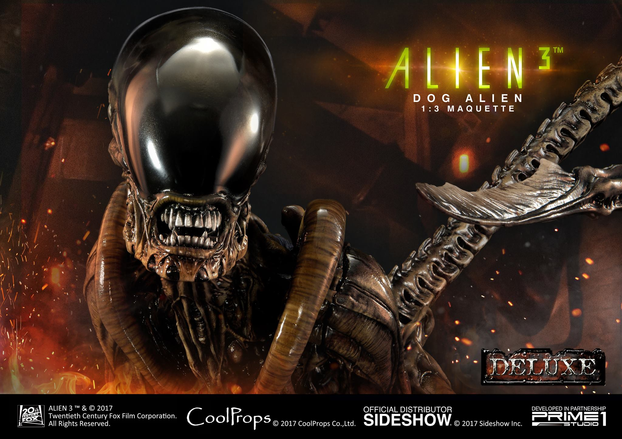 Prime 1 Studio and CoolProps Team Up For Alien 3 Dog Alien Statue