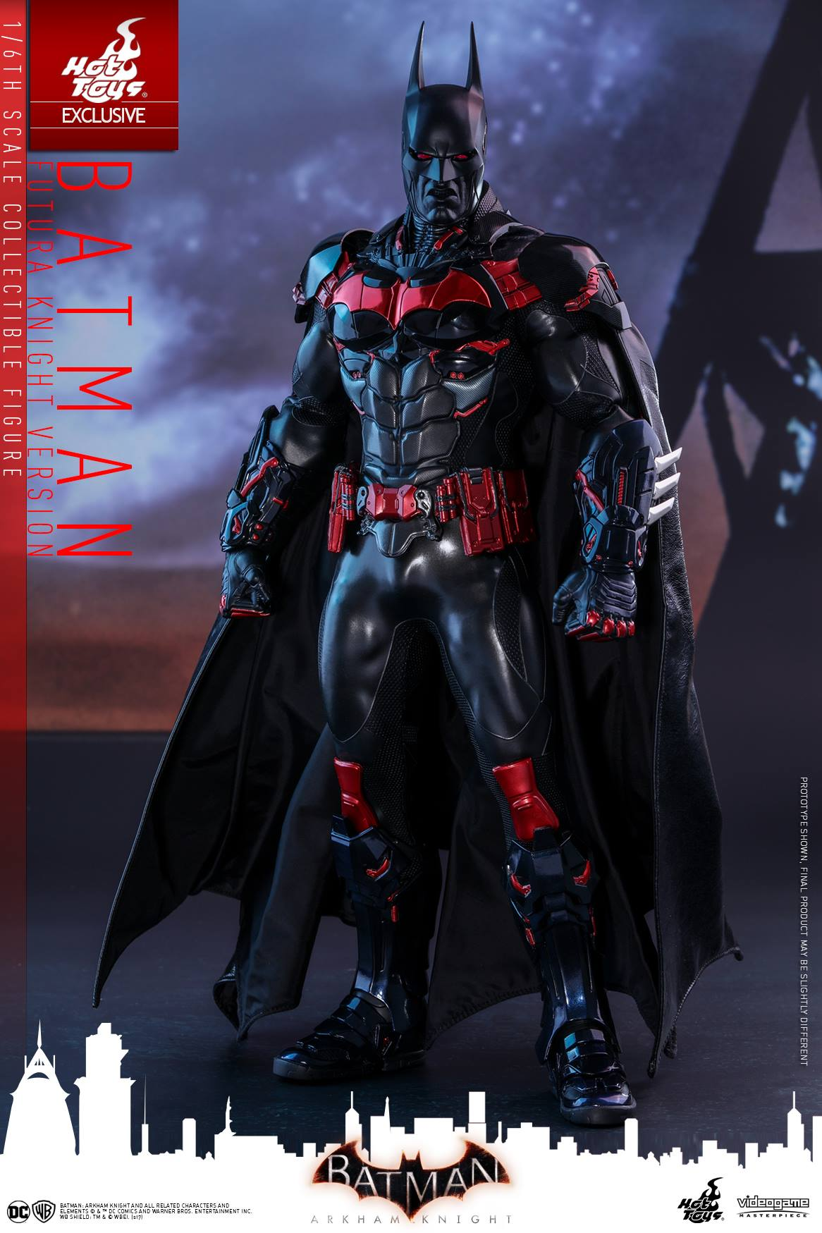 batman arkham knight hot toys batman futura version 1 6. Black Bedroom Furniture Sets. Home Design Ideas