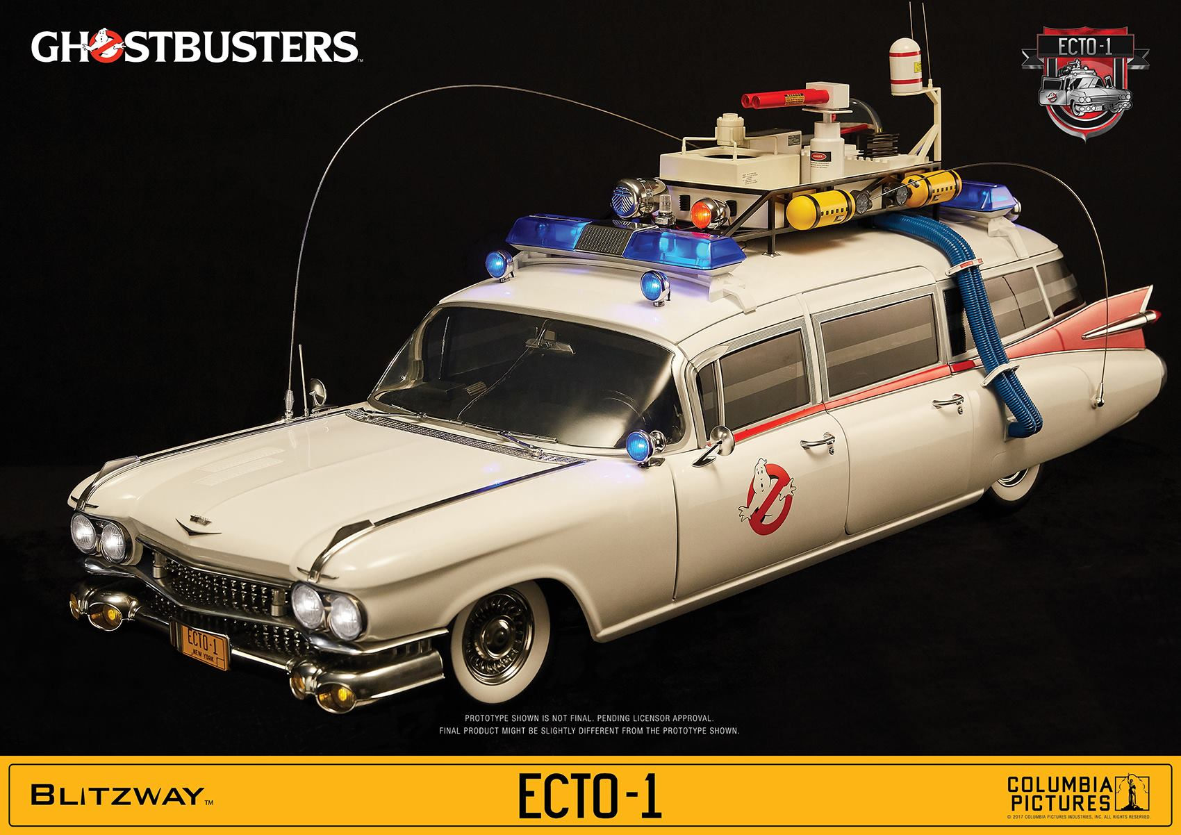 new 1 6 scale ghostbusters ecto 1 vehicle coming from. Black Bedroom Furniture Sets. Home Design Ideas