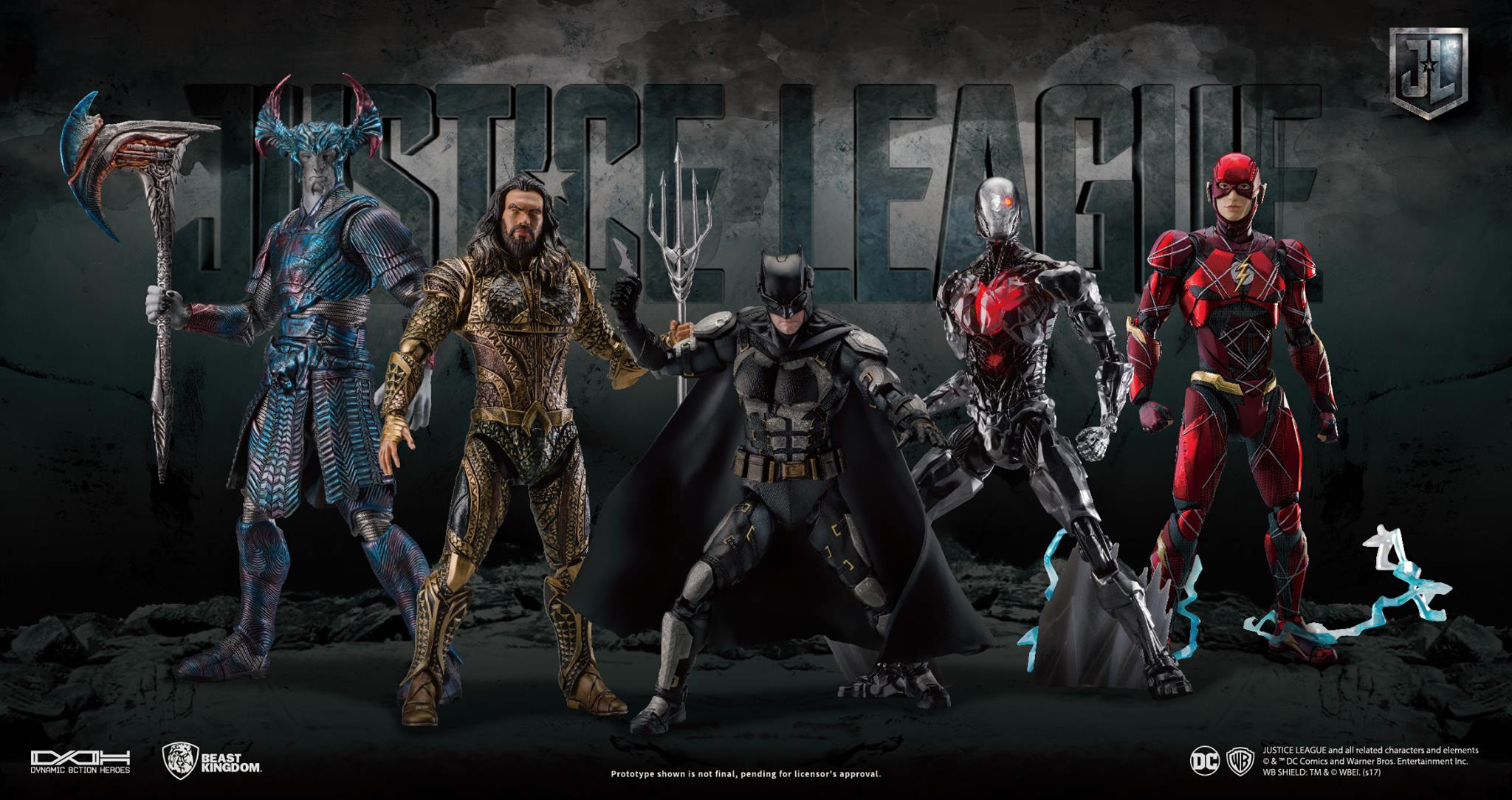 beast kingdom dynamic 8ction heroes justice league figures