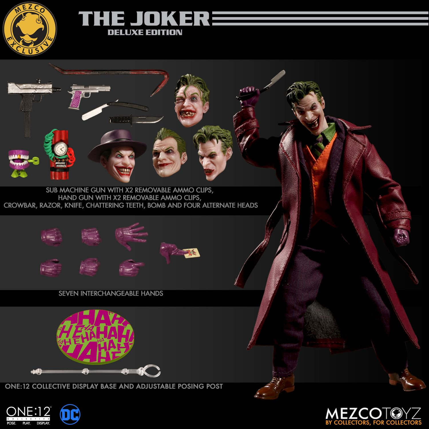 4bb8ad6152 Mezco Exclusive One 12 Collective The Joker Deluxe Edition