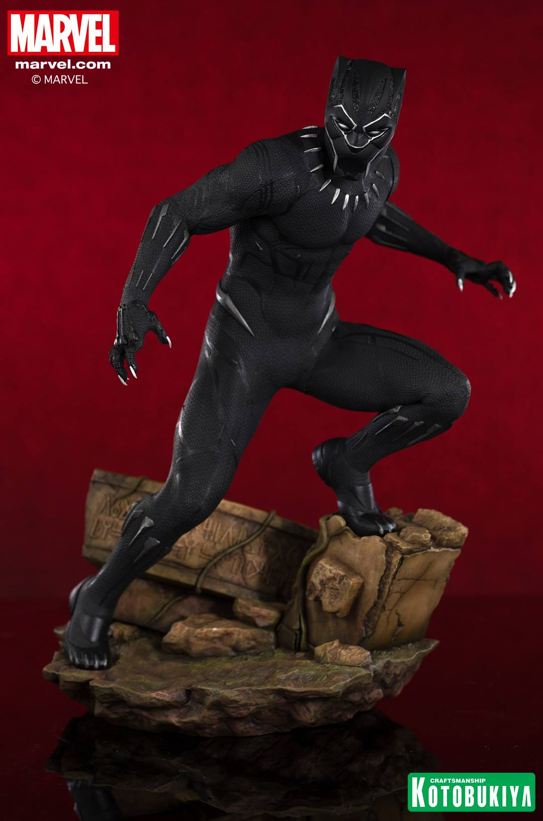 marvel black panther movie black panther artfx statue by