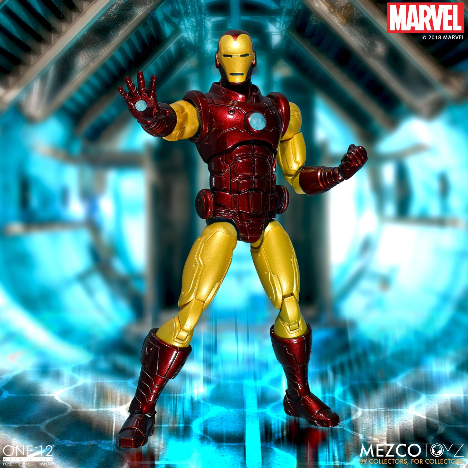 mezco toyz iron man one 12 collective figure available to pre order the toyark news. Black Bedroom Furniture Sets. Home Design Ideas