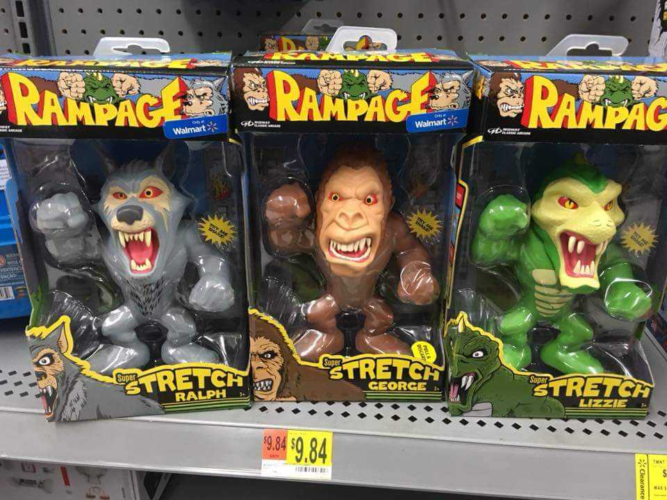 Walmart Exclusive Rampage Video Game Stretchy Figures The Toyark