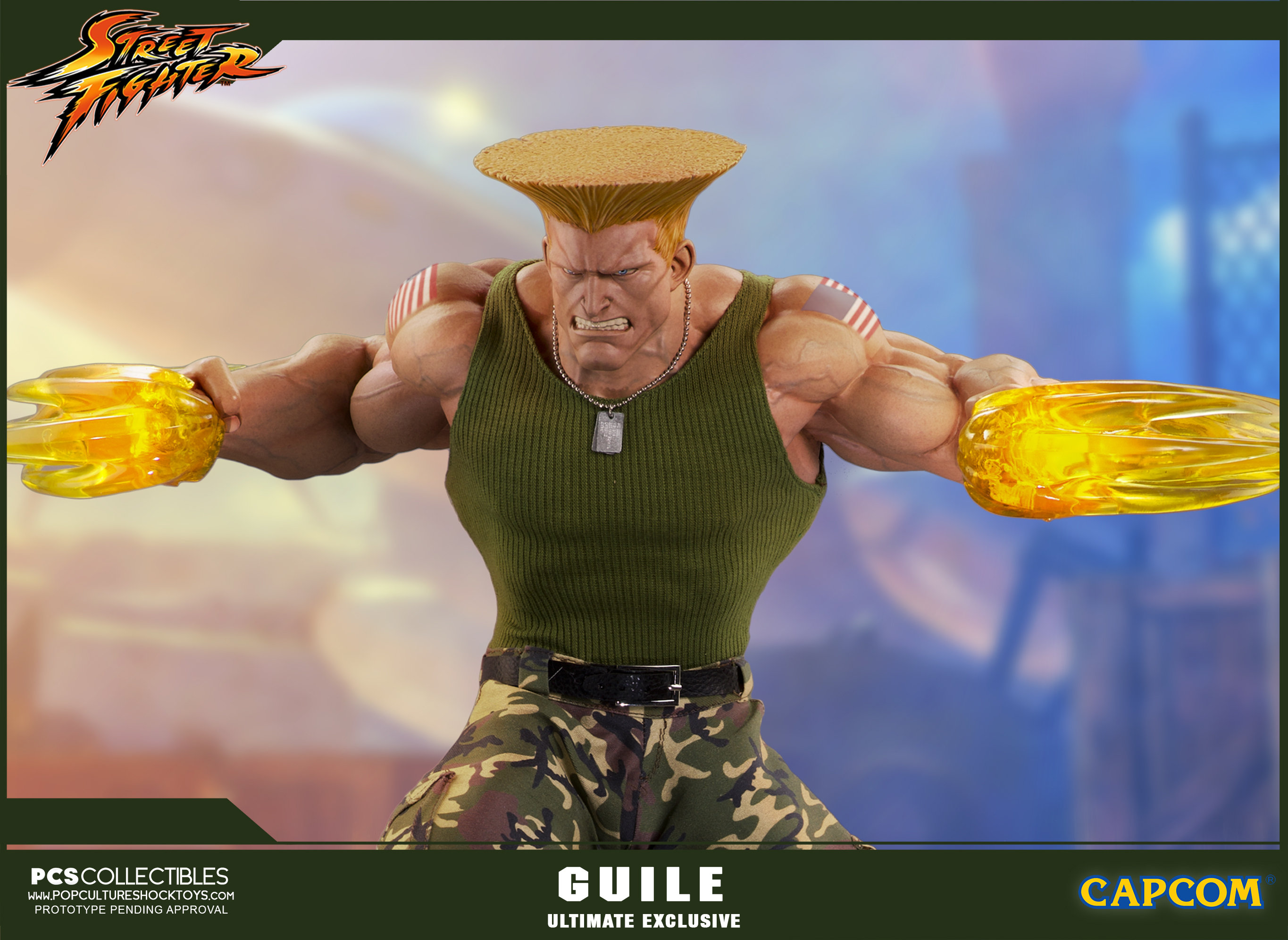 Street Fighter Guile Statues Coming From Pcs Toys The Toyark News