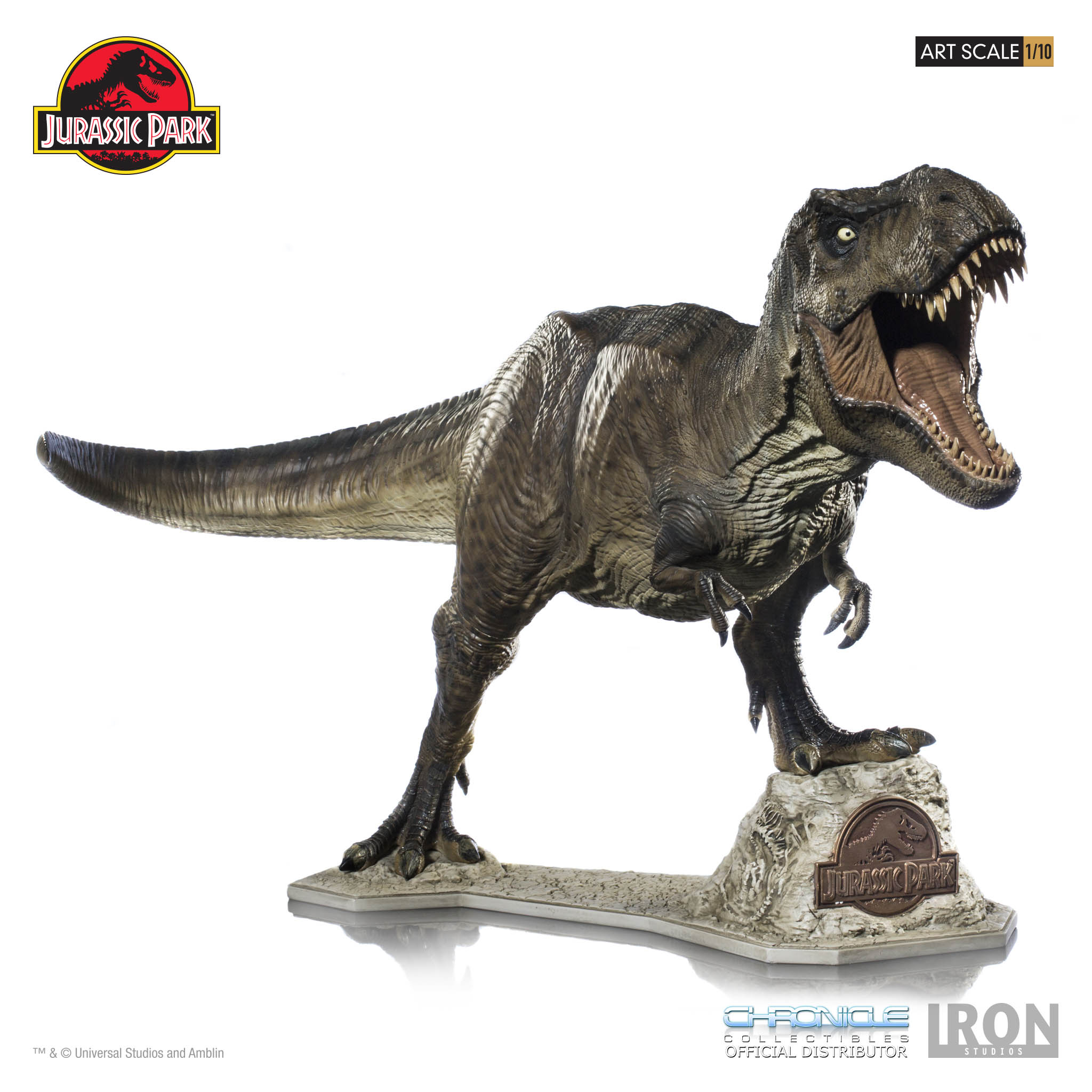 jurassic park t rex by iron studios and chronicle collectibles the toyark news. Black Bedroom Furniture Sets. Home Design Ideas