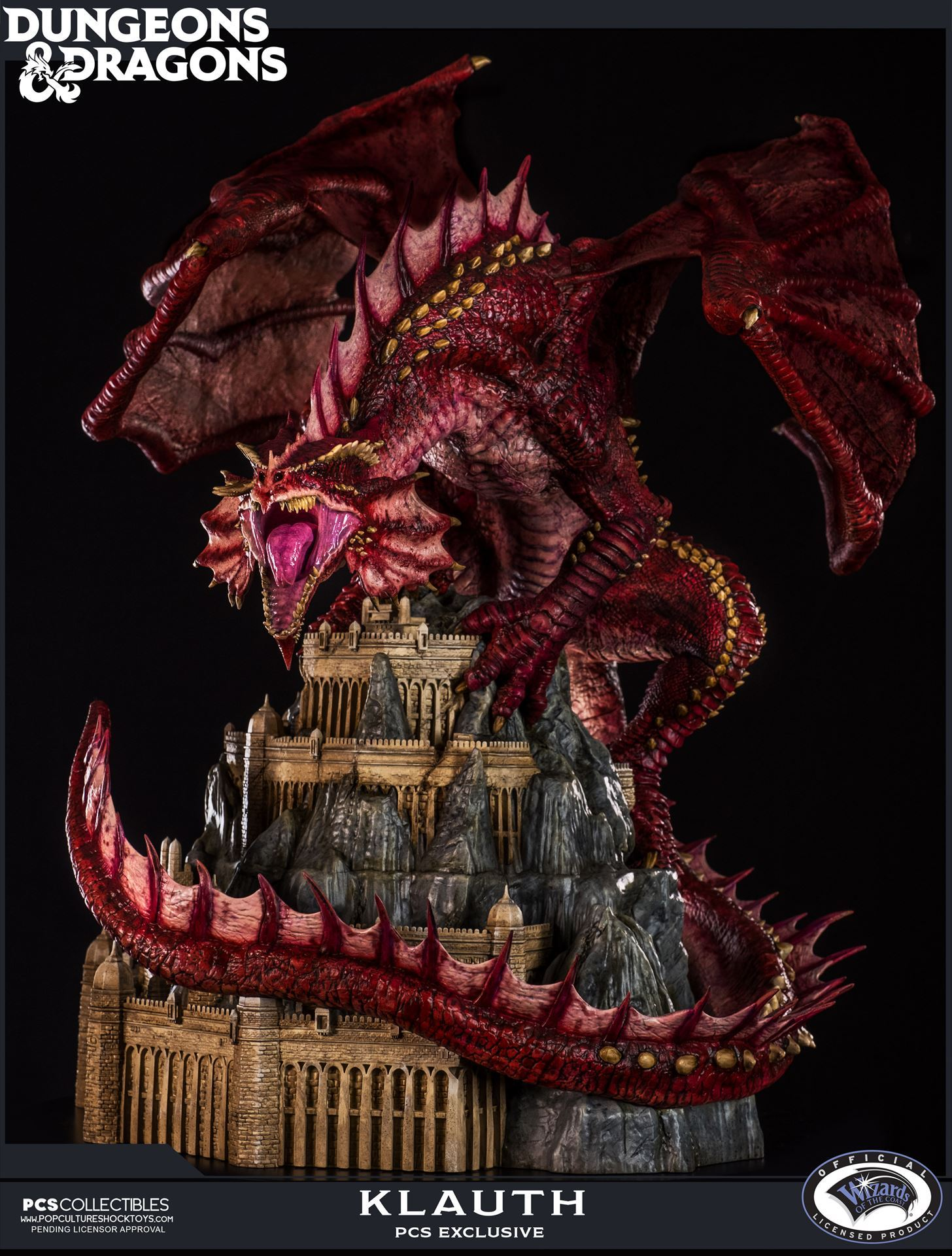 Dungeons and Dragons Klauth the Red Dragon Statue by PCS