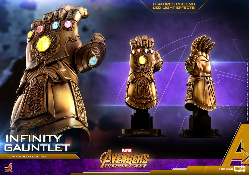 hot toys avengers infinity war infinity gauntlet 1 4 scale replica the toyark news. Black Bedroom Furniture Sets. Home Design Ideas