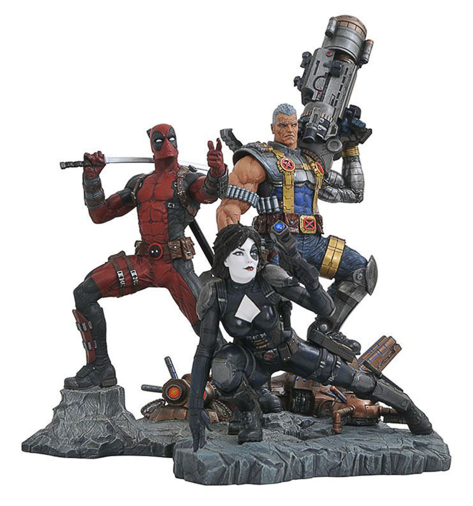 Marvel Premier Collection Cable, Domino And Deadpool