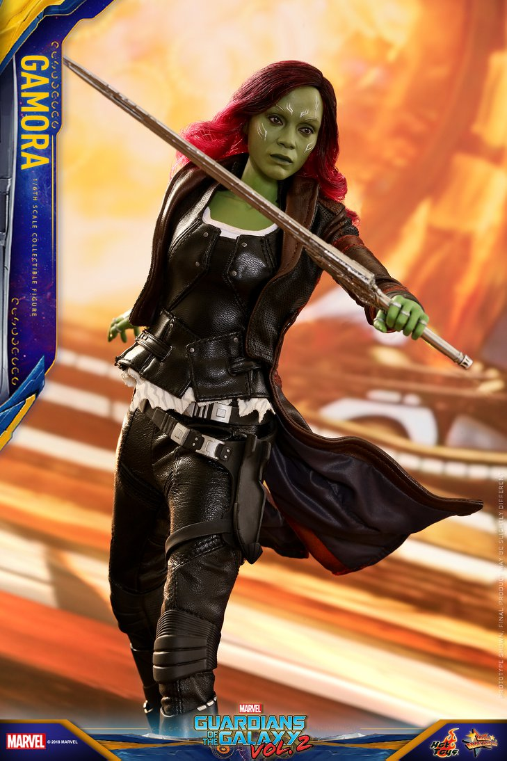 guardians of the galaxy vol 2 gamora figure by hot toys
