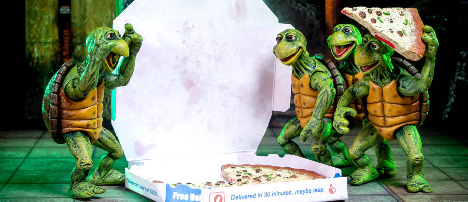 TMNT 1990 Baby Turtles 1/4 Scale Figures by NECA - Toyark Photo Shoot