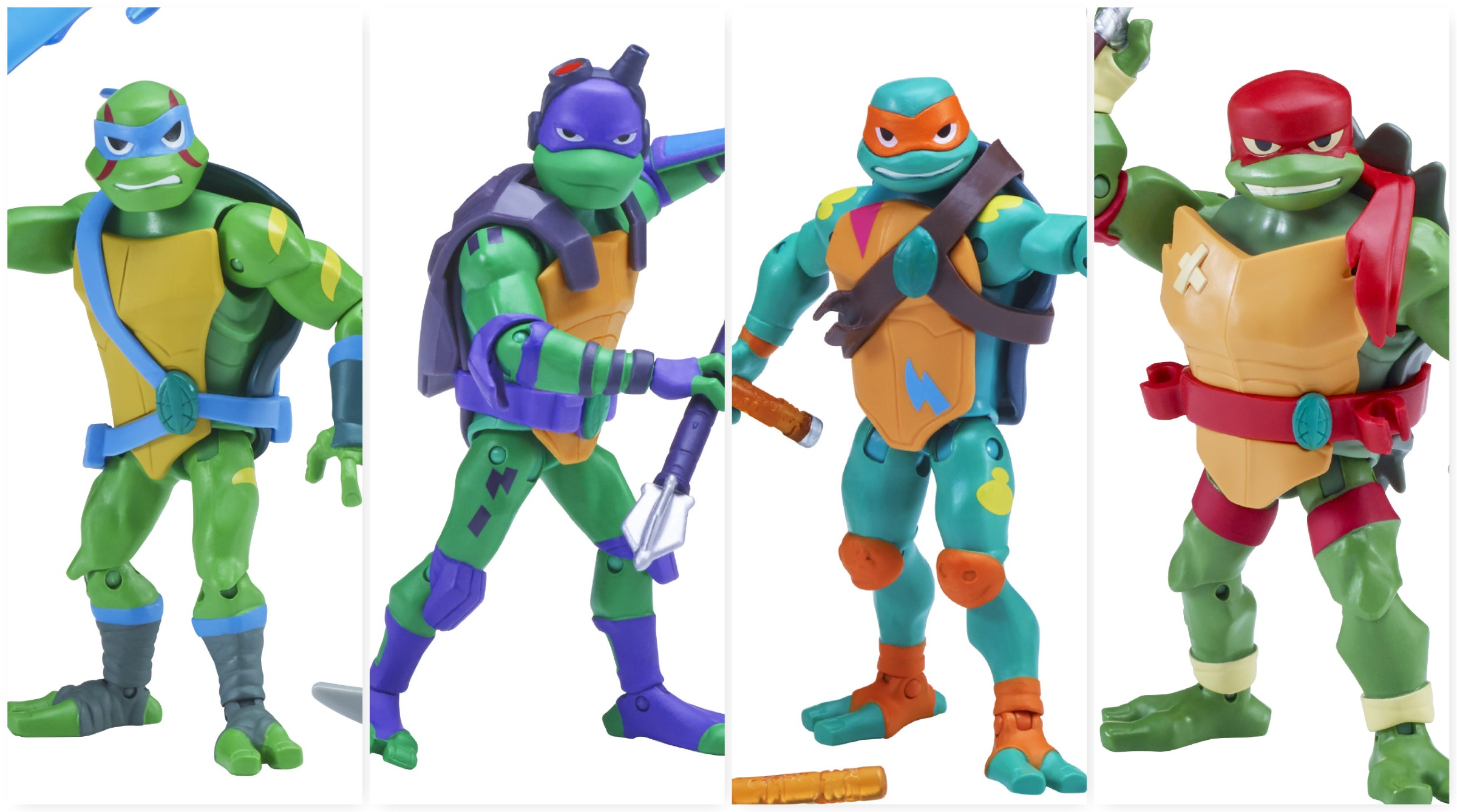 Set Of 4 Nickelodeon Rise Of The Teenage Mutant Ninja Turtles 2018 TMNT New Toys