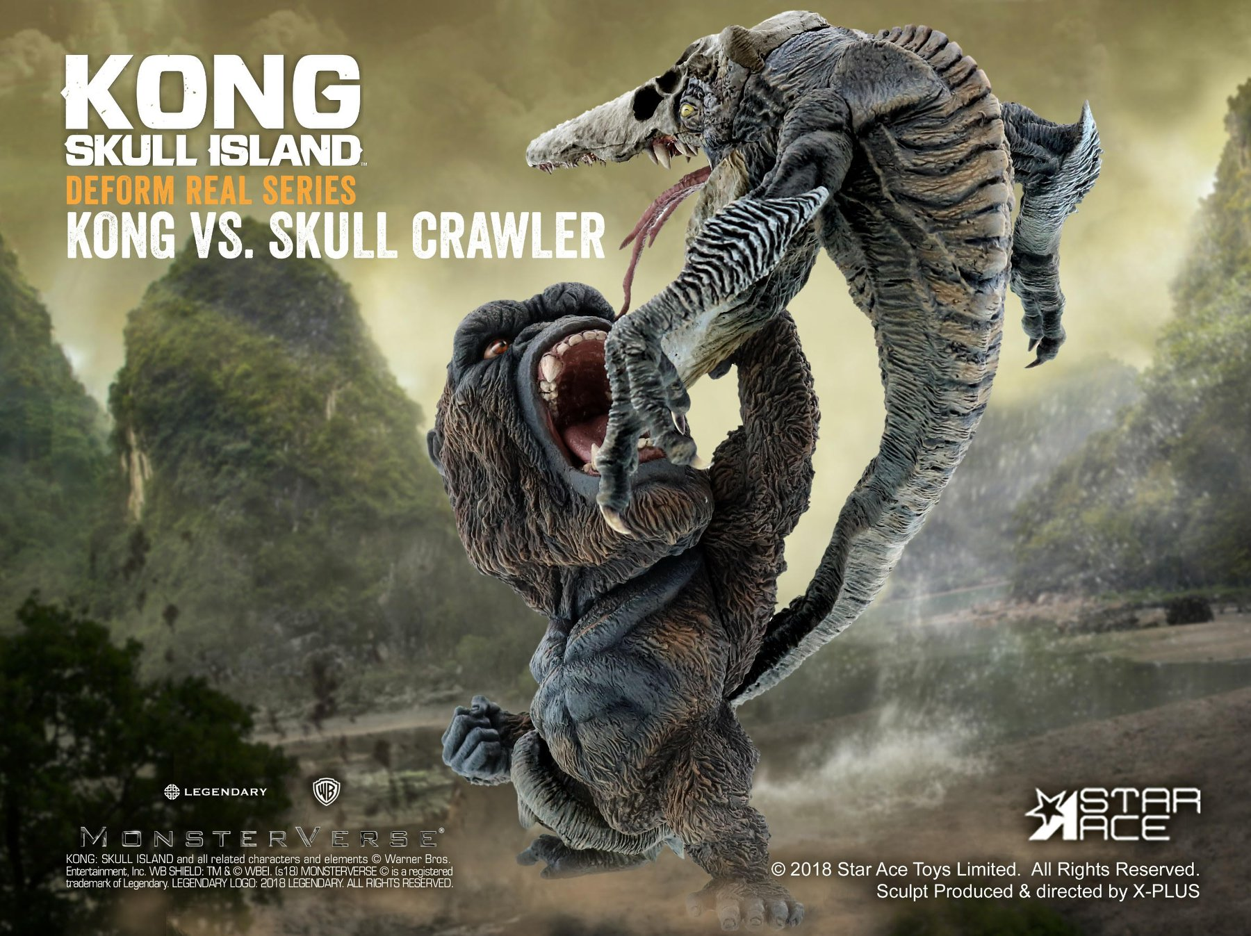 Kong vs Skull Crawler Statues by Star Ace Toys - The ...