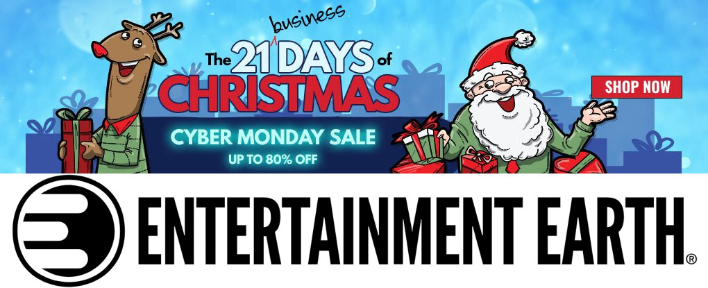 entertainment earth cyber monday 2018 sales now live. Black Bedroom Furniture Sets. Home Design Ideas