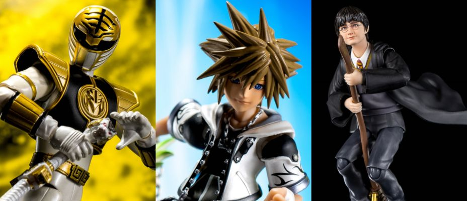S.H. Figuarts Roundup Gallery - Sora Final Form, Harry Potter and Tommy Head White Ranger