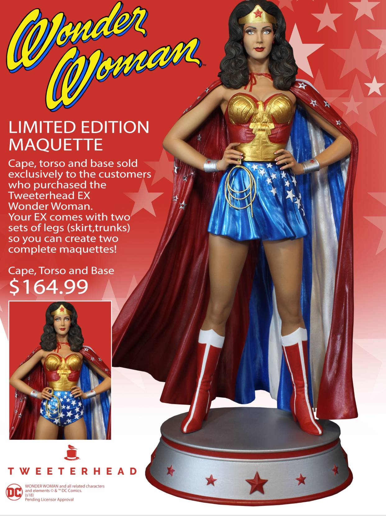 Wonder Woman TV Series Season One Exclusive Maquette by ...