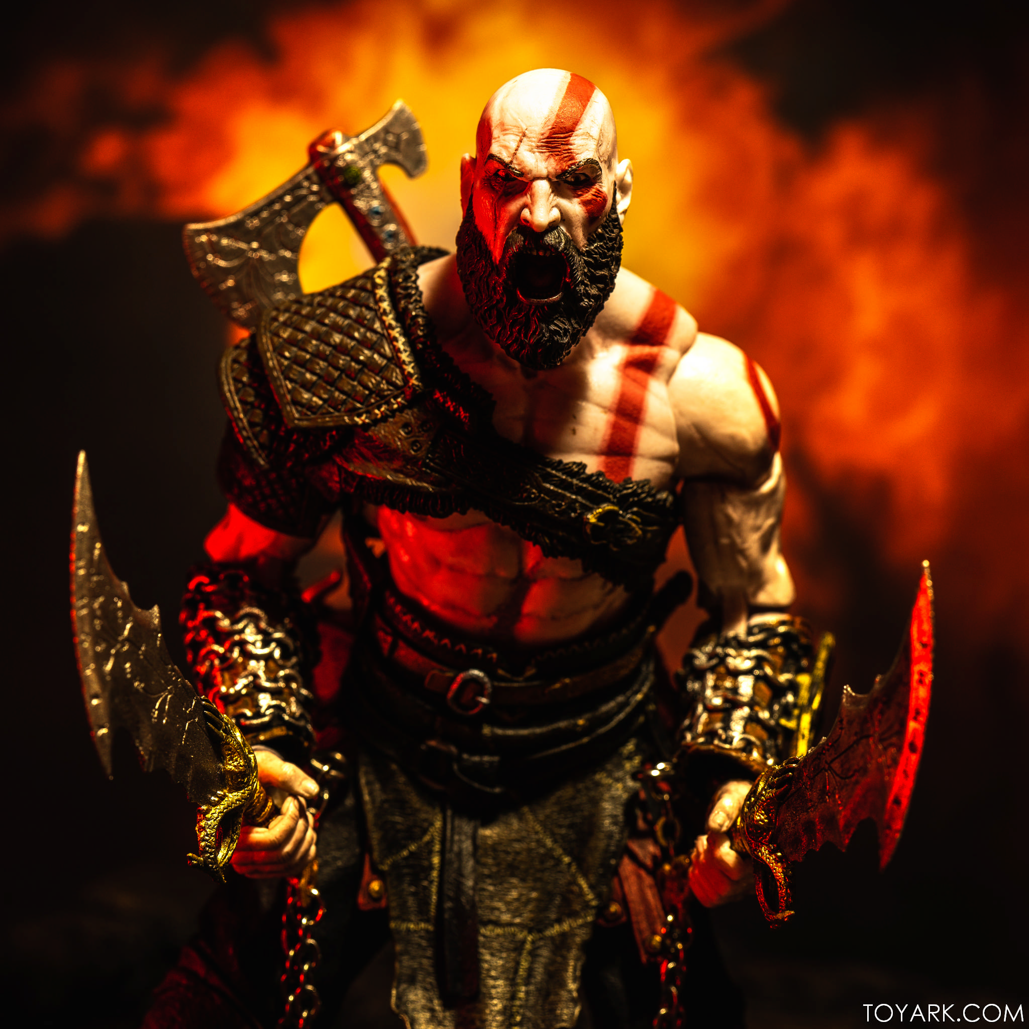 First Look Neca Kratos And Atreus God Of War 2 Pack In Hand The